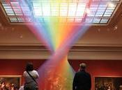 etéreo arco iris hilo llena galería Museo Arte Toledo