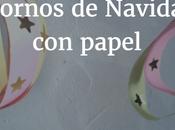 Manualidad Navidad para niños: Adornos papel adornar árbol