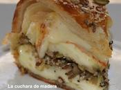 Queso camembert relleno setas champiñones