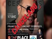 Suspenden concierto Pancho Céspedes Miami.