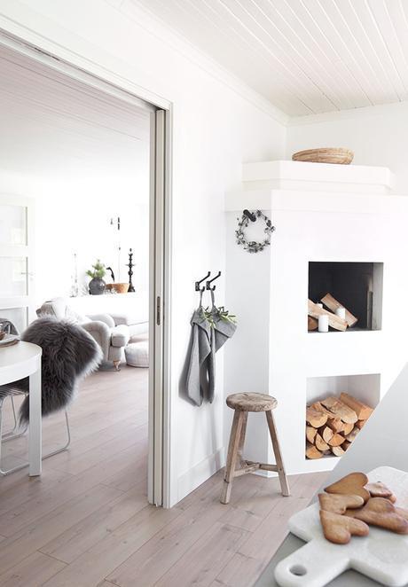 Casa rural nórdica de estilo boho en Navidad=combinación PERFECTA, entra y disfruta