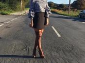 Falda pantalón blusa cuadros