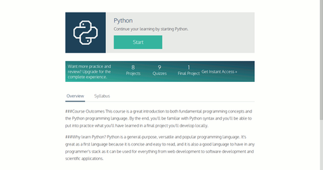 Python Course in Codecademy