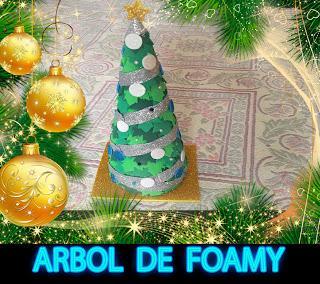Diy como hacer un rbol de navidad con goma eva foamy y for Como hacer un arbol de navidad original