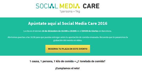 Social Media Care 2016, evento solidario..
