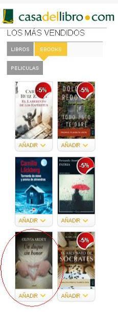 Un duque sin honor entre los ebooks m s vendidos de la casa del libro paperblog - Ebook casa del libro ...