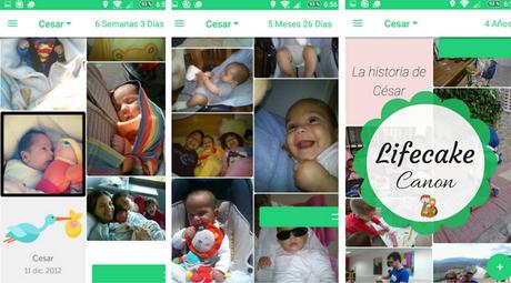 Lifecake de Canon: La historia de tus peques en fotos siempre a mano