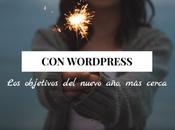 WordPress objetivos nuevo cerca