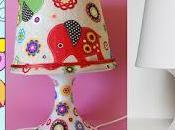 Como forrar lampara tela Decoupage sobre Decorar imaginacion