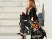 kimono batín flared jeans