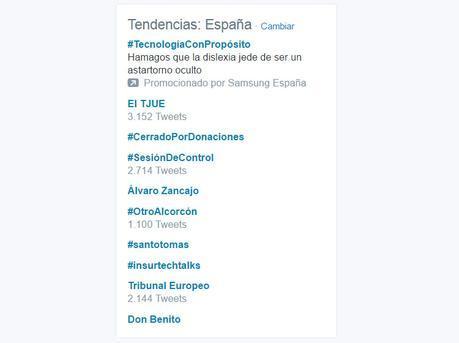 Tendencias Twitter Españaa