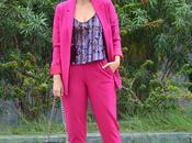 Pink suit outfit
