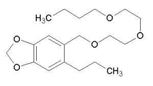 estructura química del buóxido de piperonilo