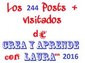 Posts Visitados 2016 Crea aprende Laura