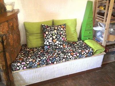 Antes y después del sofá leñero de Covi