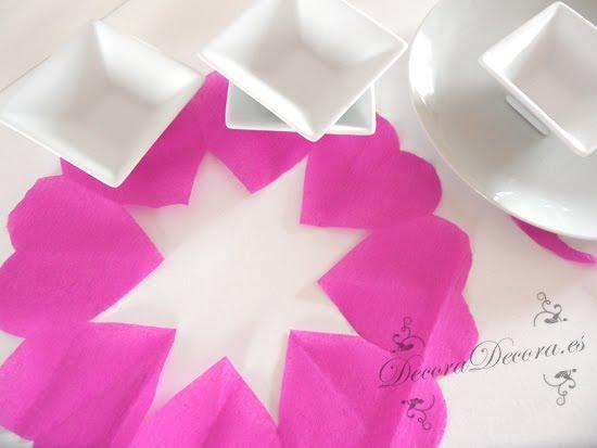 decorar la mesa de forma romántica en el dia de san valentin