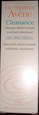 Review Mascarilla Cleanance de Avene.