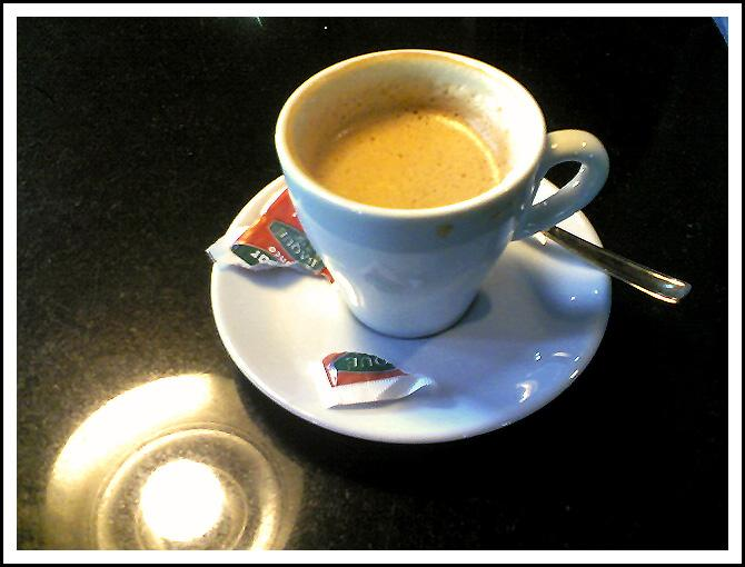 Descafeinado corto de café