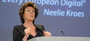 Kroes avisa de que la CE actuará si no se aplican recomendaciones a las nuevas redes