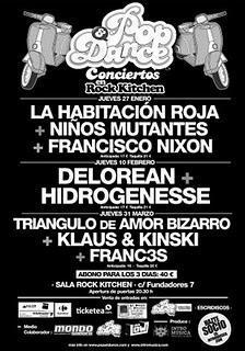 Crónica Delorean+Hidrogenesse. I Ciclo de Conciertos Pop&Dance.; Sala Rock Kitchen, jueves 10 de febrero de 2011