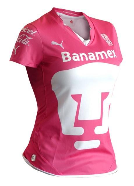 Nueva playera rosa de los Pumas de la UNAM 2011
