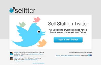 Selltter - La forma de comprar y vender en Twitter