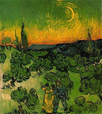 El fulgor nocturno de la imagen, la Luna retratada, y el Arte.