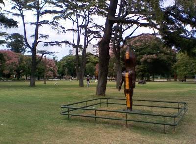 Parque con esculturas