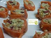 Rollitos salmón ahumado gorgonzola