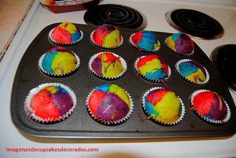 imagenes de cupcakes de colores niños
