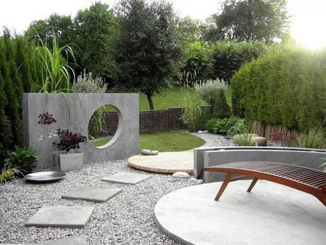 jardines minimalistas de concreto - Jardines Minimalistas