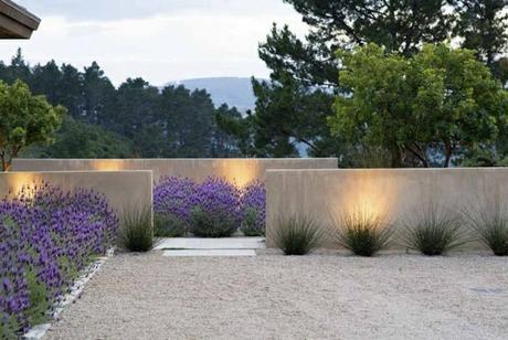 jardines minimalistas de concreto