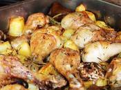 Pollo horno papas Baked chicken potatoes