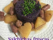 Salchichas Frescas Patatas Lombarda