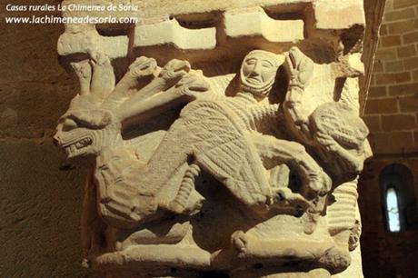 soria monasterio san juan de duero iglesia capitel dragon