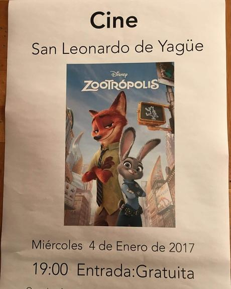 san leonardo cine gratis niños zootropolis soria