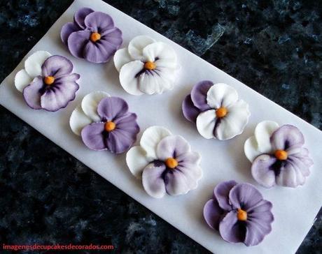 figuras de azucar para decorar cupcakes cristalizada