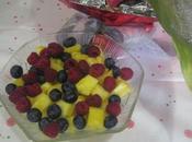 Ensalada piña frutas rojas aroma menta miel