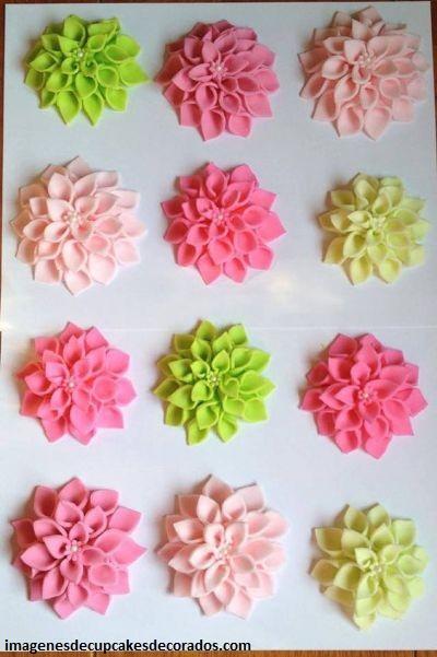flores de fondant para cupcakes pasos