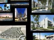Proyecto masterplan ubicado asia occidental. apartamentos villas adosadas