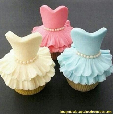 cupcakes decorados para niñas cumpleaños