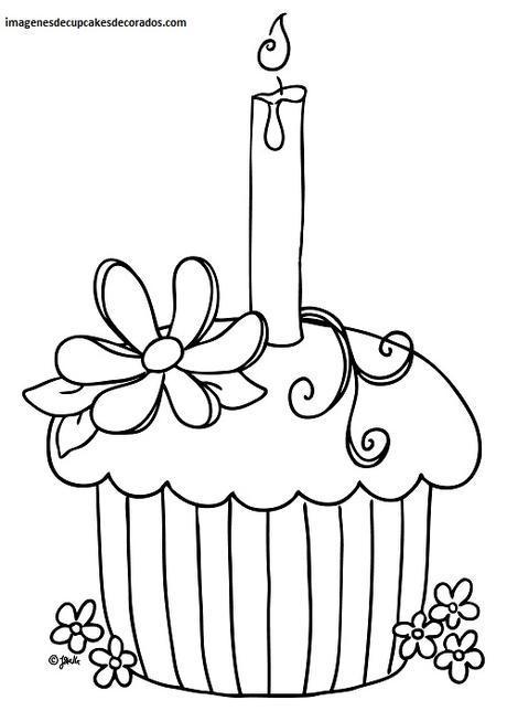 imagenes de dibujos de cupcakes animados