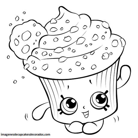 imagenes de dibujos de cupcakes imprimir