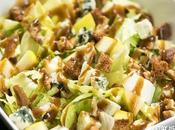 Receta ensalada achicoria azúcar manzana, roquefort nueces