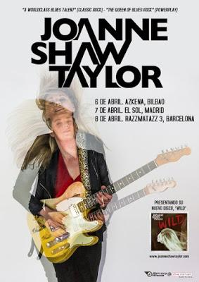 El blues rock de Joanne Shaw Taylor, en abril en Bilbao, Madrid y Barcelona