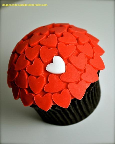 imagenes de cupcakes de san valentin decorados
