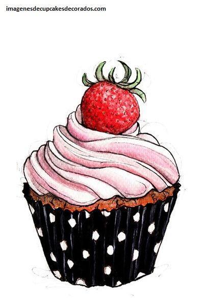 dibujos de cupcakes para tarjetas logos