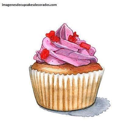 dibujos de cupcakes para tarjetas animados