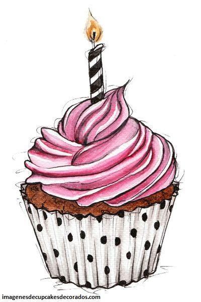 dibujos de cupcakes para tarjetas colorear