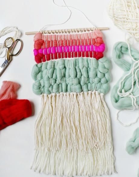 9 Tutoriales Para Crear Colgantes Y Tapices De Lana Paperblog - Tapices-de-lana